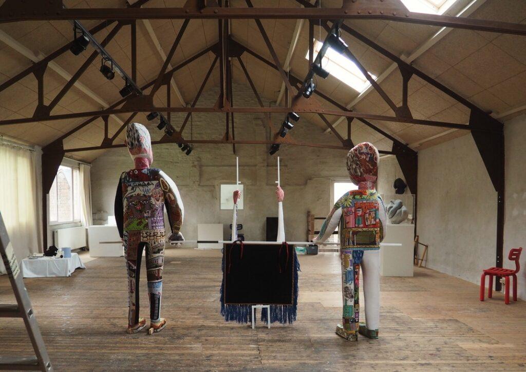 Klaas Rommelaere sculptures in Atelier Lachaert Dhanis's studio