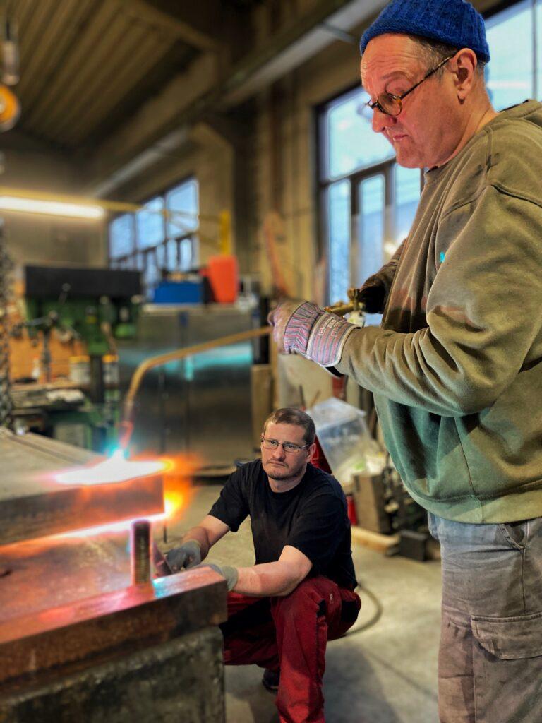 Rudolf Bott in workshop for 'plus quam...'