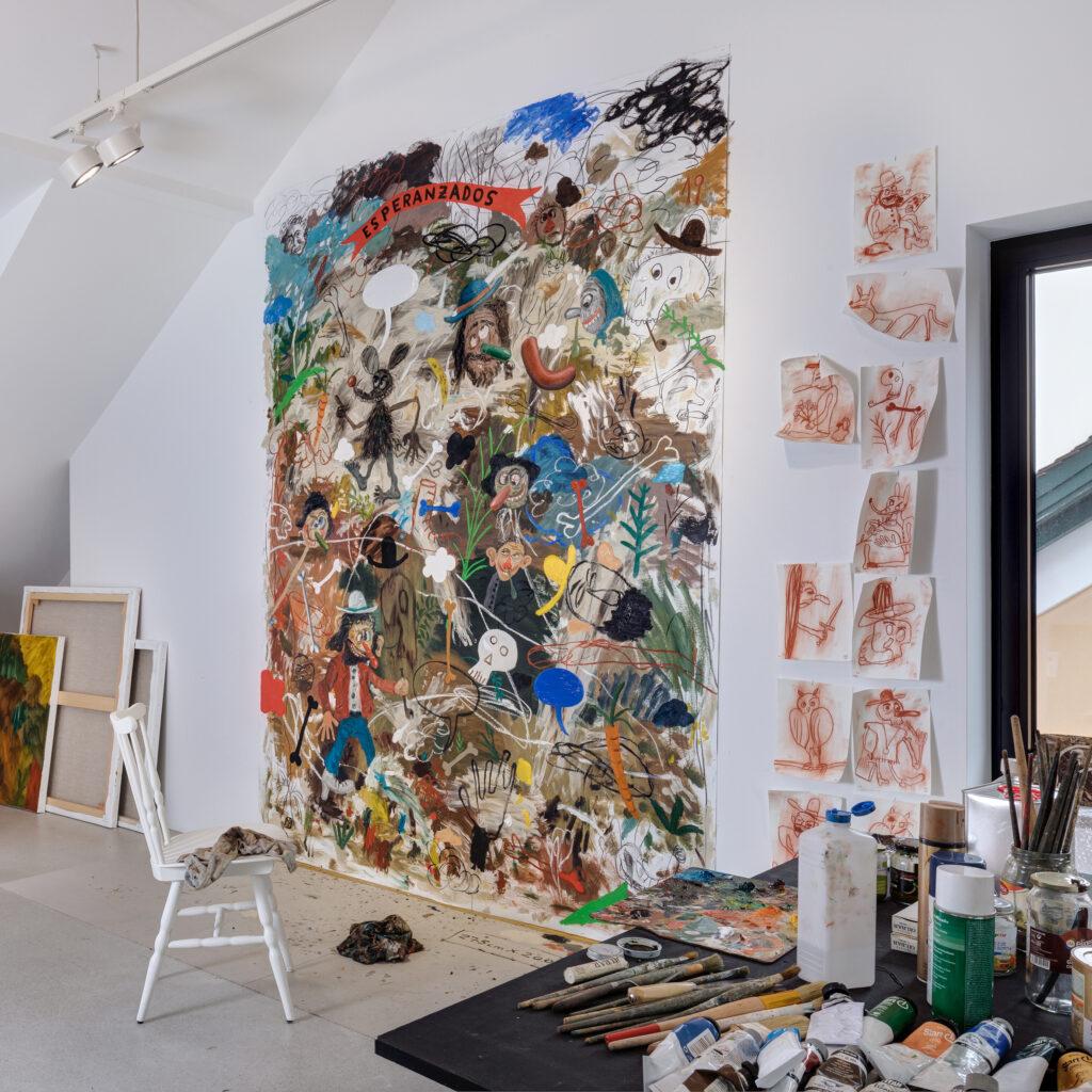 Matias Sanchez in Galerie Zink artist residency 2020