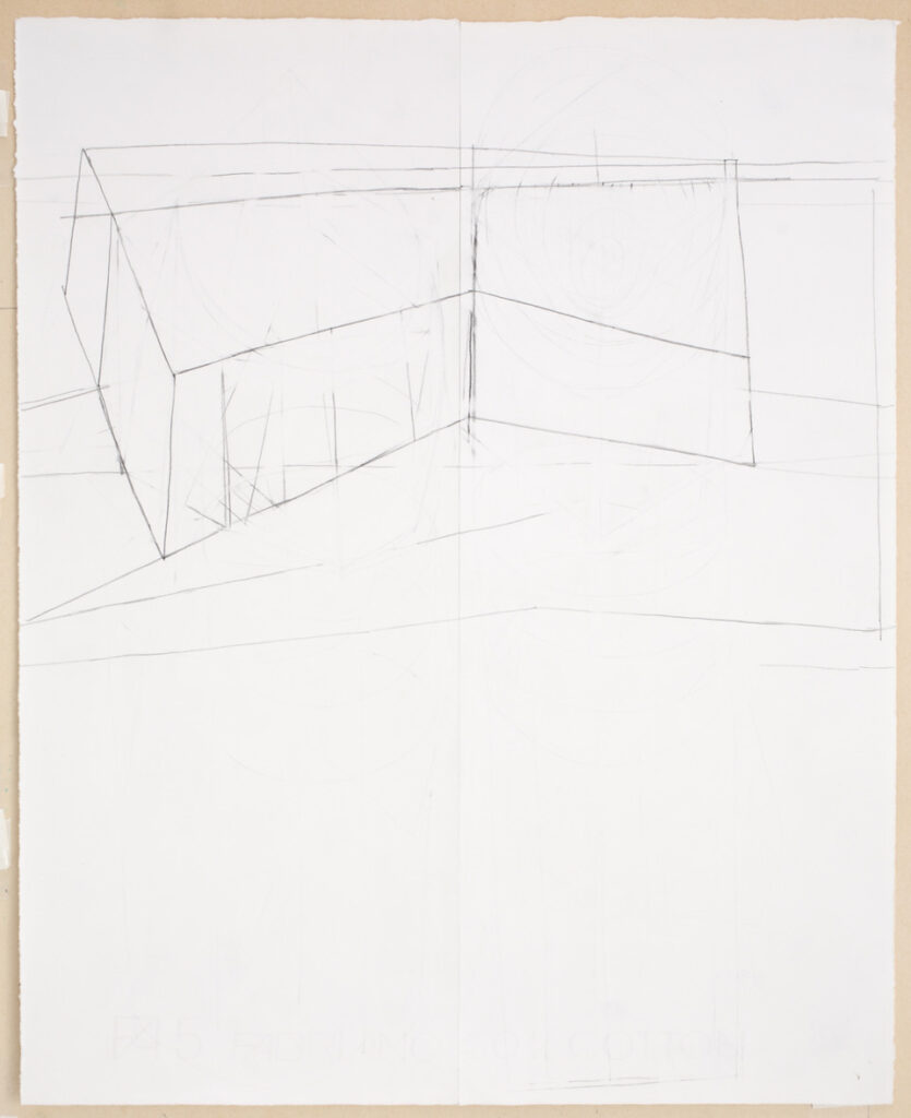 German Stegmaier Untitled 1995/96/2019/20 Pencil on paper (glued)