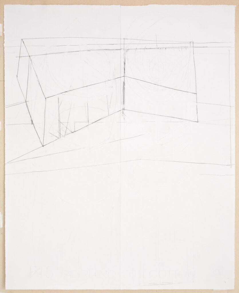 German Stegmaier Untitled 1995/96/2019/20 Pencil on paper (glued)